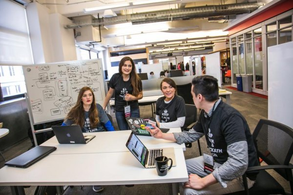 Cornell has hosted hackathons in New York City, like this one at Google in 2016.